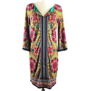 Laundry By Shelli Segal Colorful Mandala Dress